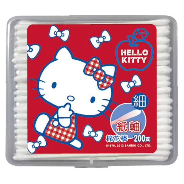 【Hello Kitty】細紙軸棉棒200支